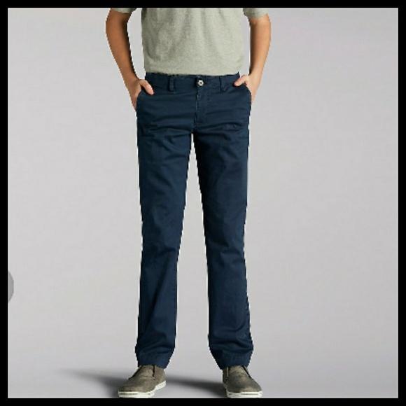 163ac761 Lee Bottoms | Nwt Boys 14 Husky Sport Active Chino Pants | Poshmark